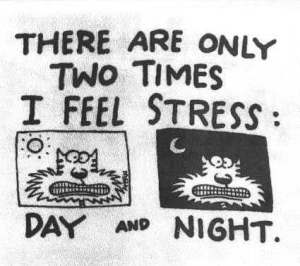 stress cartoon